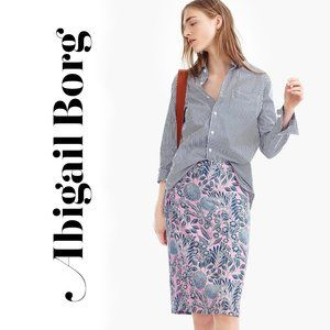 Abigail Borg for J. Crew Silk Slip Skirt Size 4